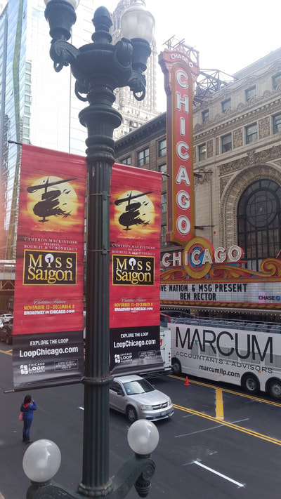 LIGHT POLE BANNERS for the city of Chicago